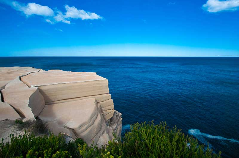 Wedding cake rock feature on the east Australian coast